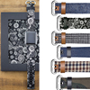 Band For Apple Watch 42mm 38mm New Fabric Denim Style Leather Band Series 3 2 1