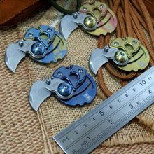 Multi-Colored Coin pocket folding knife M390 blade titanium handle camping Survival Knives outdoor tactical hunting tool