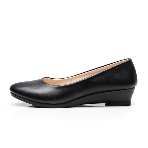 Women Ballet Flats Shoes Black Women Casual PU Leather Shoes For Office Work Boat Shoes Cloth Sweet Loafers Womens Classics Shoe Pakistan