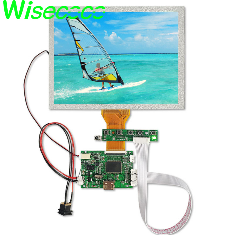8'' inch tablet LCD screen 800x600 high resolution HDMI VGA AV LVDS board  for Raspberry Pi car dvd projection AT080TN52 v 1