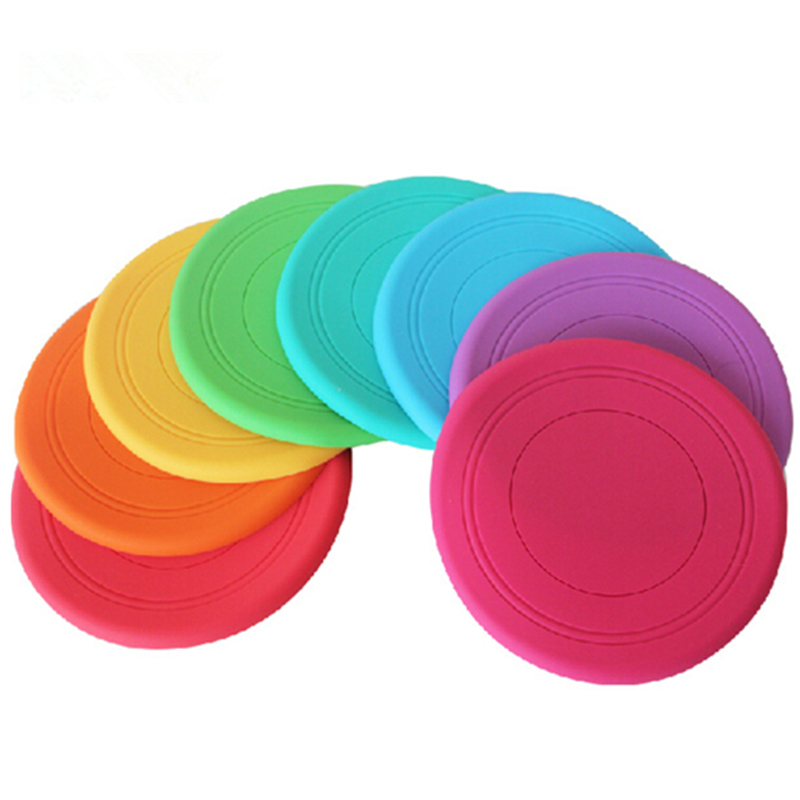 5pcs/pack 17cm Silicone Safety Soft Frisbee Fun