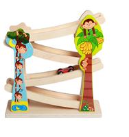 Mamimamihome سكوتر الطفل الجمود خشبية للأطفال ألعاب خشبية أربعة طوابق المسار مونتيسوري اللعب طفل سيارة لعبة