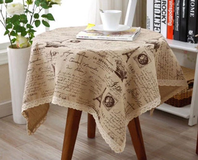 Linen Table Cloth Europe NEW Fashion Eiffel Tower Dining Lace Tablecloth  For Home Outdoor Christmas Party