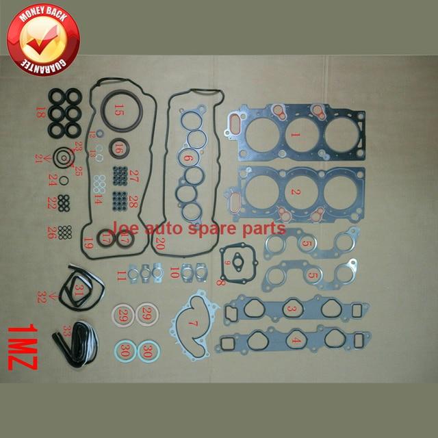 1MZ 1MZFE Engine complete Full gasket set kit for Toyota Camry / AVALON lexus ES 3.0L 2995cc 1995-2005 04111-20041 50137400 1
