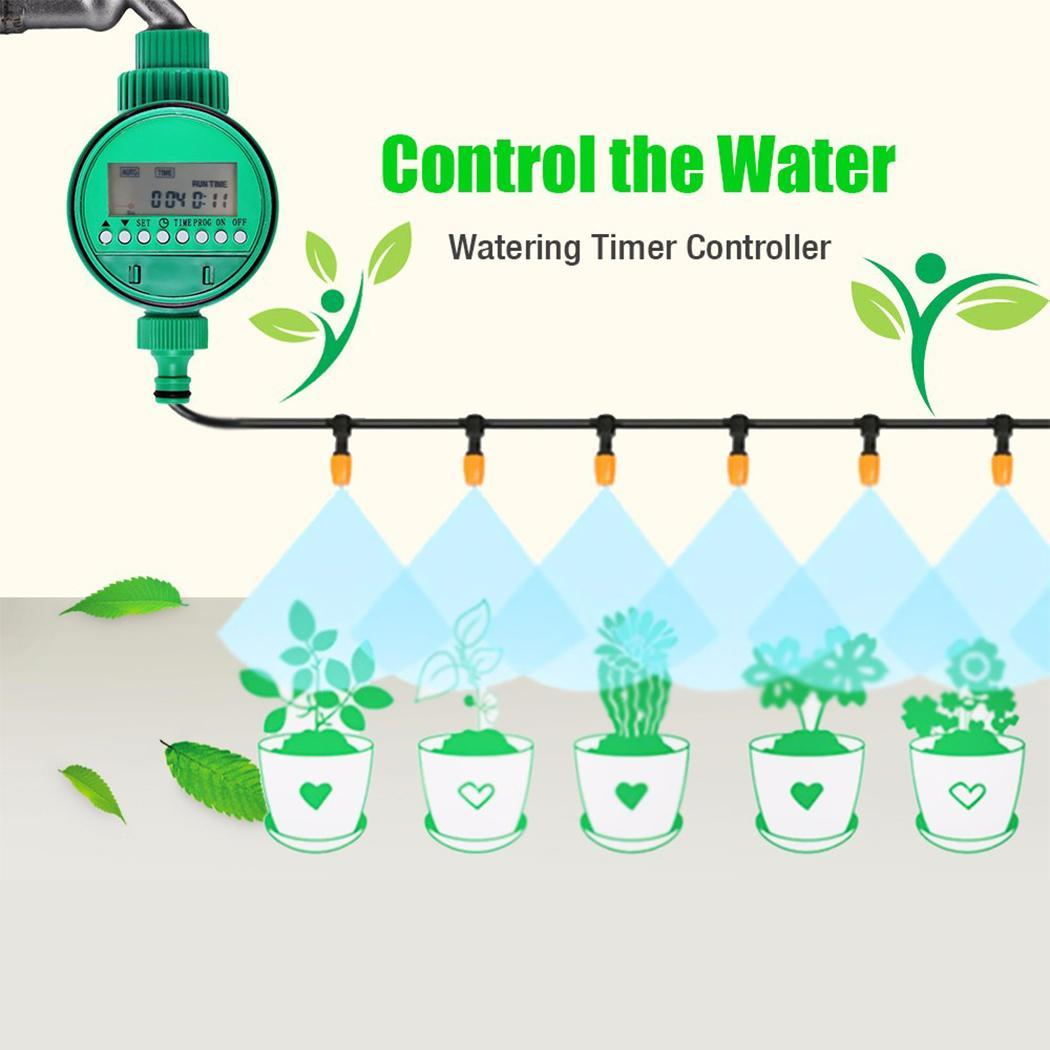 LCD Batteries Durable Micro Drip Irrigation System Plant Self Automatic Watering Timer Electronic 2 x Display AAA not Controller