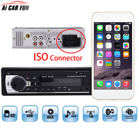 Car Radio Stereo Player ISO Connector Bluetooth Remote Control Phone AUX IN SD MP3 FM USB