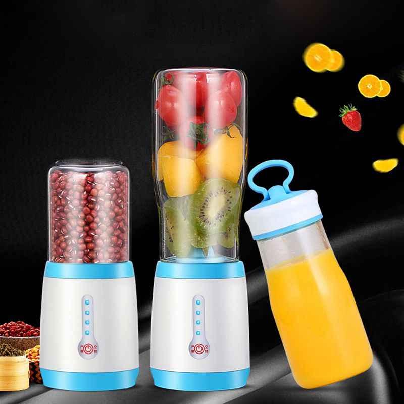 Copo espremedor, Liquidificador o Suco Portátil, Tamanho Pessoal Elétrica Recarregável Mixer, 500 ml Frutas Máquina de Mistura com Carregador USB Cabl