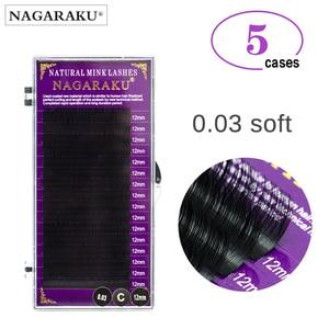 Image 1 - NAGARAKU Maquiagem Makeup Lashes 5 Cases lot 0.03mm Individual Eyelash High Quality Soft Natural Faux Cils