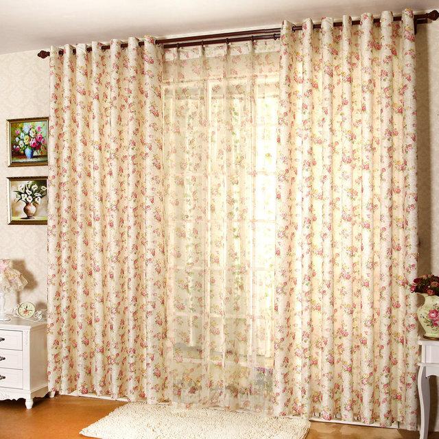 Elegant Pinky Floral Curtain