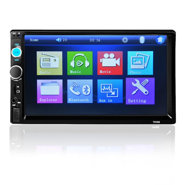 7'' HD Bluetooth Touch Screen Car Stereo Radio 2 DIN FM/MP5/MP3/USB/AUX + Camera Fashion Item 17Sept14 in dash car touch usb sd mp3 mp5 player aux fm radio stereo bluetooth double din camera fashion item 17sept14