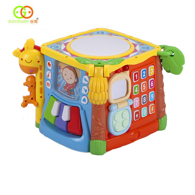 Educational toys children shape matching building blocks 1-2-3 years old one and a half baby six-sided box intelligence 1 2 3