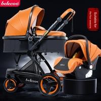 Belecoo коляска современной удобной высокой класса амортизатор позволяет ребенку сидеть baby автомобиля 2 in1 и 3 в 1