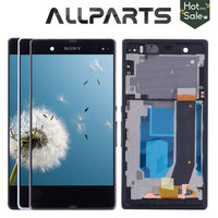 100 Tested TFT 1920x1080 LCD Screen For SONY Xperia Z Display Touch Screen Digitizer With Frame