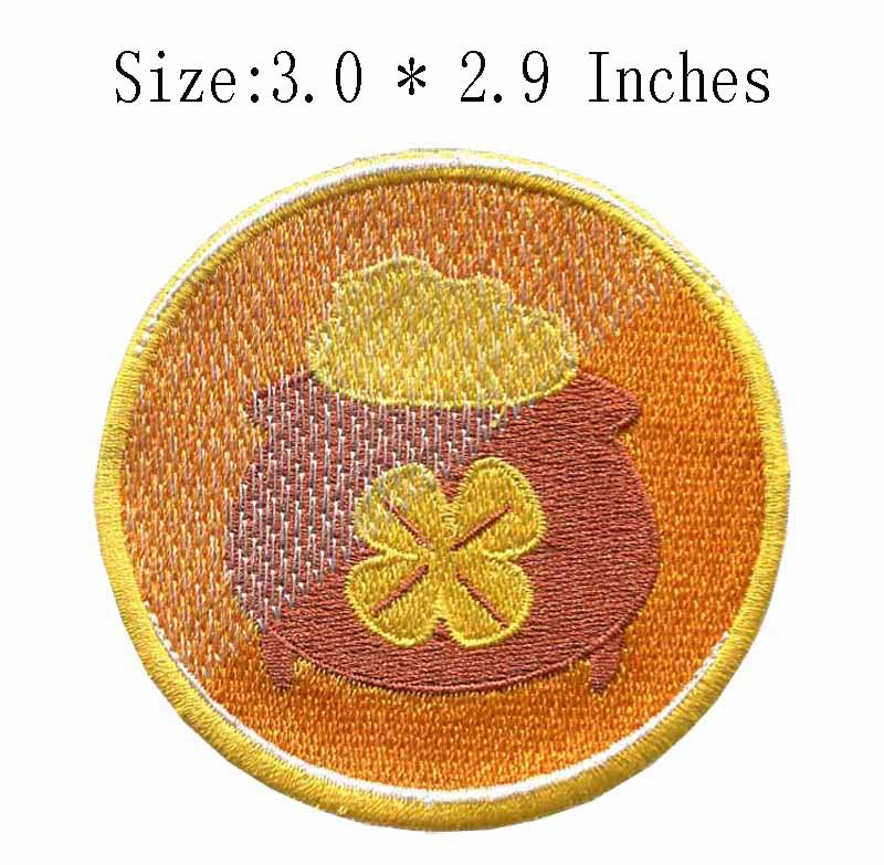 3.0wide Yellow circle embroidery patch  pedrarias e cristaiskryptekmy little pony