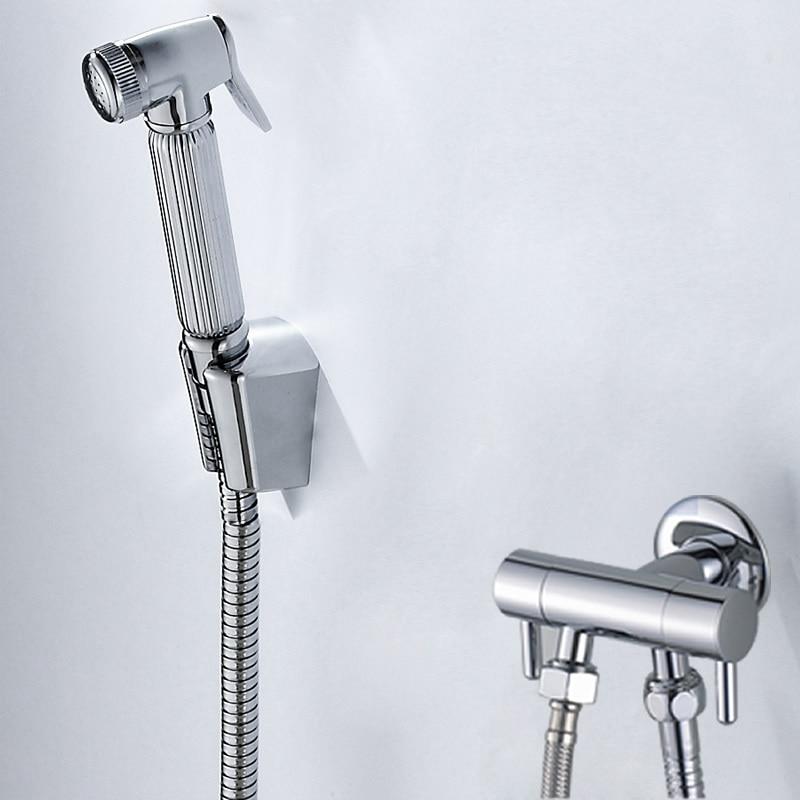 Heart bathroom toilet flusher suite bidet copper gun with supercharging shot gun bidets shower faucets spray flush woman