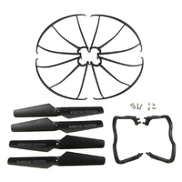 5 pack Syma X5 X5C X5C 1 Landing Skid+Blade Propeller+Propeller Protectors Spare Set Black|RC Helicopters|Toys & Hobbies -