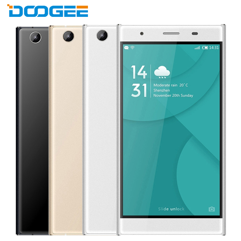 Original Doogee Y300 Mobile Phone 2G RAM 32G ROM MTK6735 1.0GHz Quad Core 5.0 Inch HD Screen Android 6.0 4G LTE Smartphone