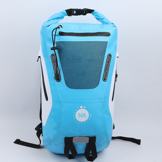 d71576bfa2d0 32L Outdoor River Trekking Bag Dry Bag Double Shoulder Straps Water Pack  Swimming Backpack Waterproof Bags for Drifting Kayaking