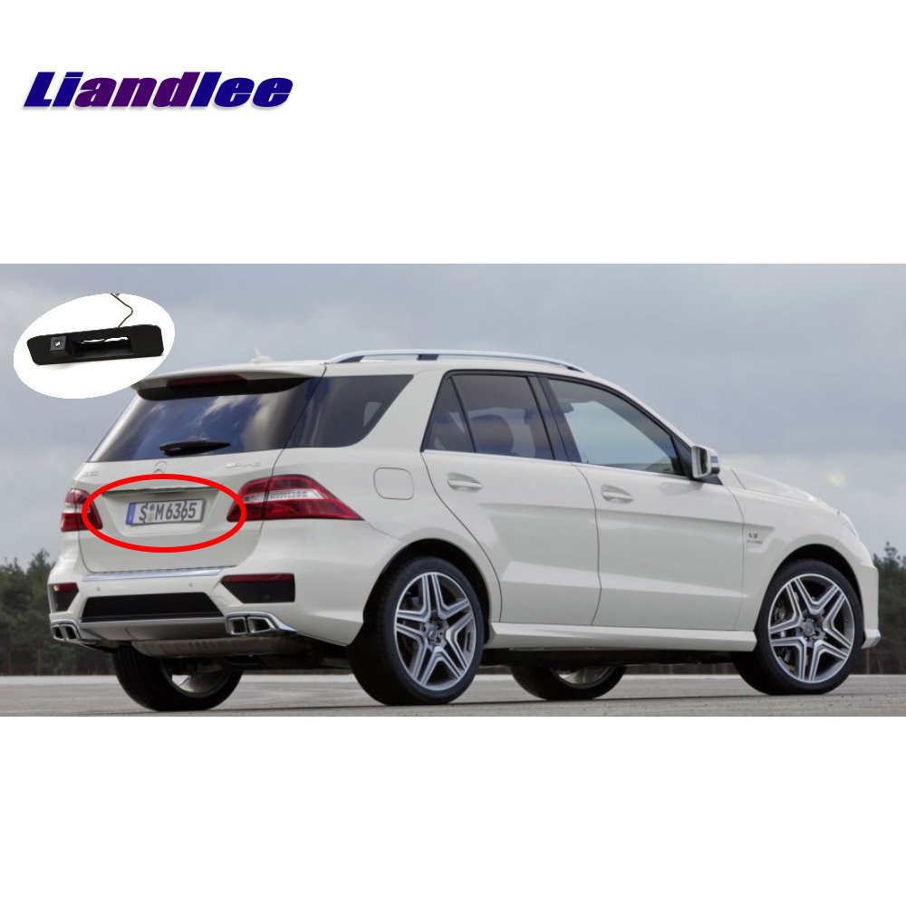 Liandlee Car Rear View Camera For Mercedes Benz ML Class W166 ML250 ML350 2013 2015 Parking Camera Integrated Trunk Handle in Vehicle Camera from Automobiles Motorcycles