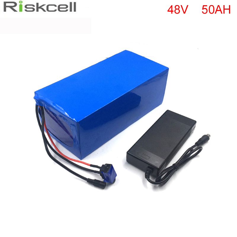 Free customs taxes  2000W 48V  50AH Electric Bicycle Battery 48V 1000w Lithium Battery 48V 50AH E-bike battery 50A BMS  charger free shipping 48v 18ah lithium battery electric bicycle scooter 48v 1000w battery lithium ion ebike battery pack akku with bms