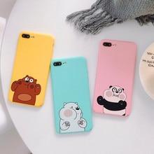 We Bare Bears Hard Phone Case For iPhone 6 6s Plus 7 7plus 8 X XR XS MAX Cute Cartoon Bear Cover Coque