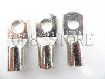 Terminales de Cable de cobre estañado, 10 Uds., 20 Uds., 30 Uds./lote SC 50-8 50 mm2 8mm 2
