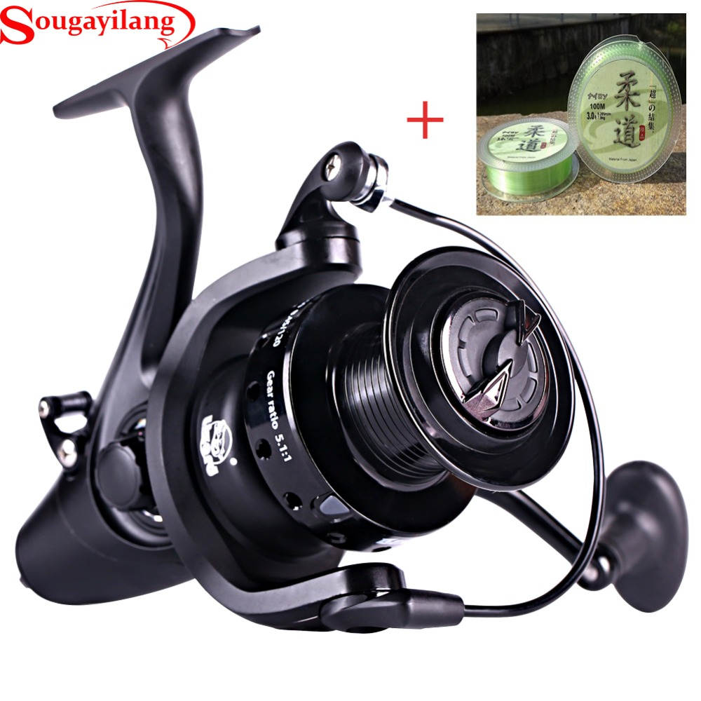 Sougayilang 13BB Metal Spinning Fishing Reel 5000 6000 Series Gear Ratio 5.1:1 Spinning Wheel Coil Fishing Tackle Line dream m19 multifunctional opie fishing reel bag fishing bags pole tackle military lure reel backpack fishing gear 33 13 23cm