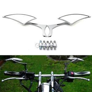 Image 2 - Universal Blade Motorcycle Rearview Side Mirrors For Honda Yamaha Kawasaki Suzuki Harley Touring Cruiser Chopper Street Bike