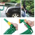 4 Padrões Portátil Jardim Car Lavar Mangueira Enrolada com Spray Bocal Da Cabeça de Recuo Rapidamente Para O Armazenamento Compacto E Organizado