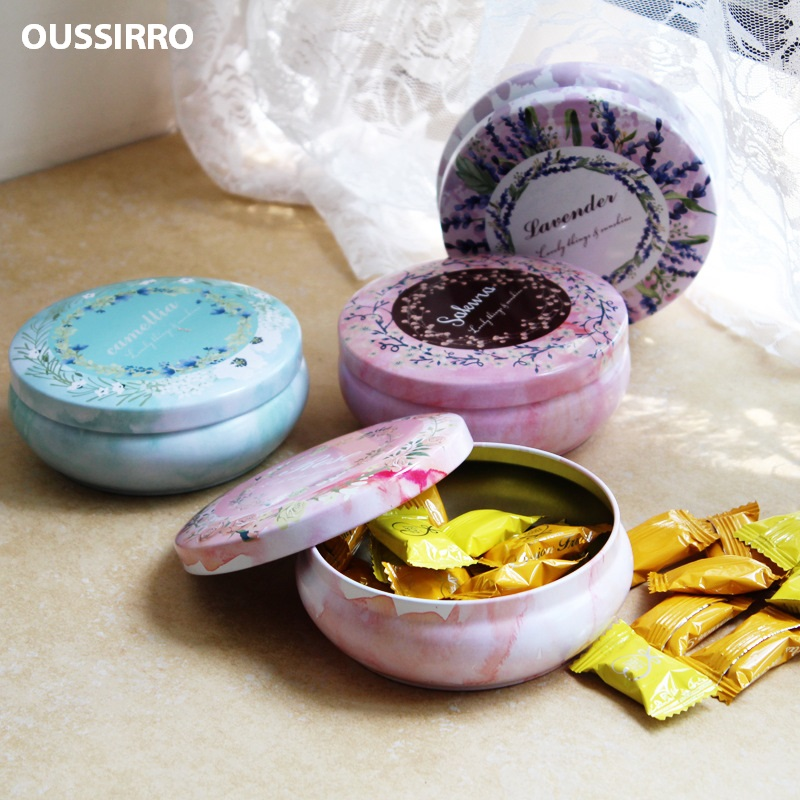 4pcs/lot Creative Mail Box Room Tinplate Decorated Storage box Wedding Party Favor Candy Cookies Box