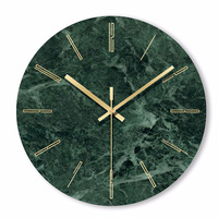 1PC Marble Wall Clock Simple Decorative Creative Nordic Modern Marble Clock Wall Clock for Living Room Kitchen Office Bedroom