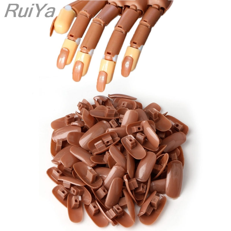 100pcs Hand Finger Replacement Refill Nail Tips For Flexible Practice Trainer