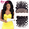 Indian Body Wave Wet And Wavy Lace Frontal Closure Full Frontal Lace Closure 13x4Ear To Ear Closure Lace Frontals With Baby Hair