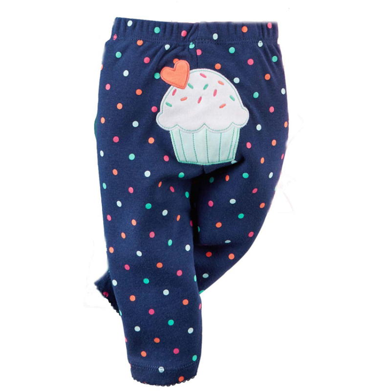 Cute 2019 Autumn Baby Pants Long Trousers Baby Girls Leggings Newborn Clothes Boy Harem Pants Elastic Waist Cartoon Infant Pants