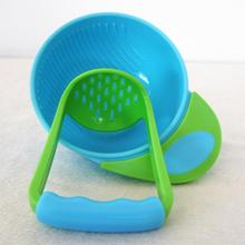 BPA Free! 100% Food Grade Toddler Fruit Grinding Bowl of Juice Making Hand Gear Baby Mash Mill