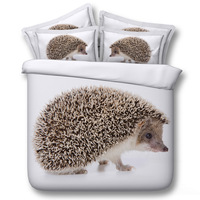 Hedgehog Digital print Bedding Set Quilt Cover Design Bed Set Bohemian a Mini Van Bedclothes 3pcs Large size 260*225cm JF134
