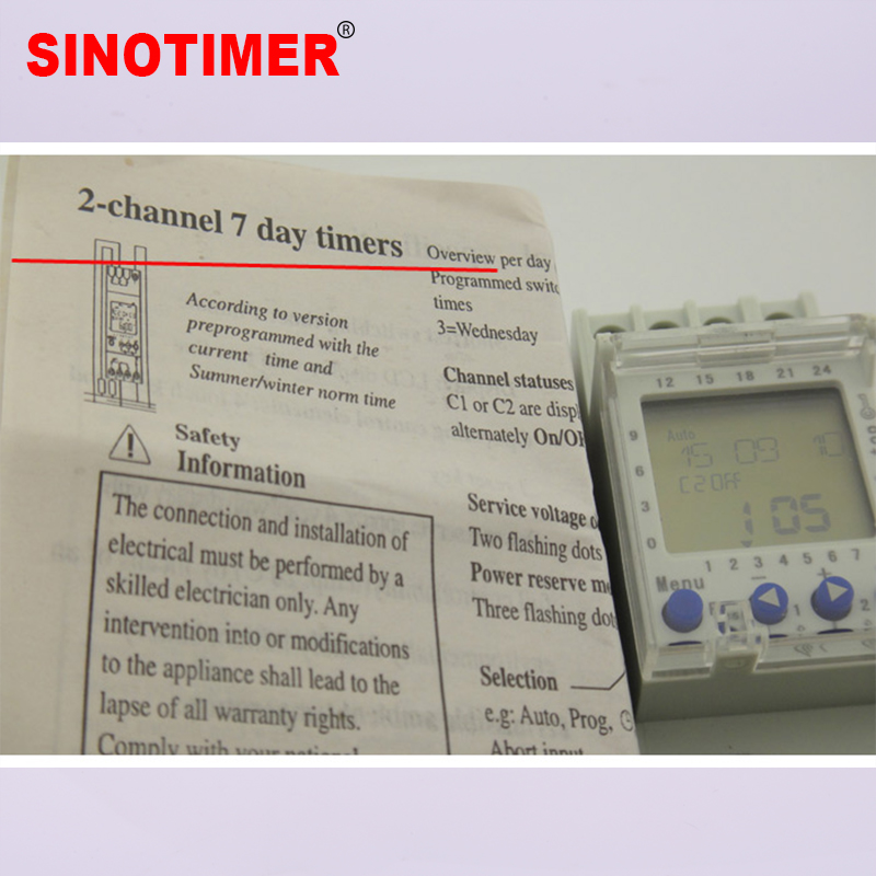 Image 2 - 2 Channels Big LCD Display Programmable 24hrs Time Clock with Two Relay Outputs-in Timers from Tools