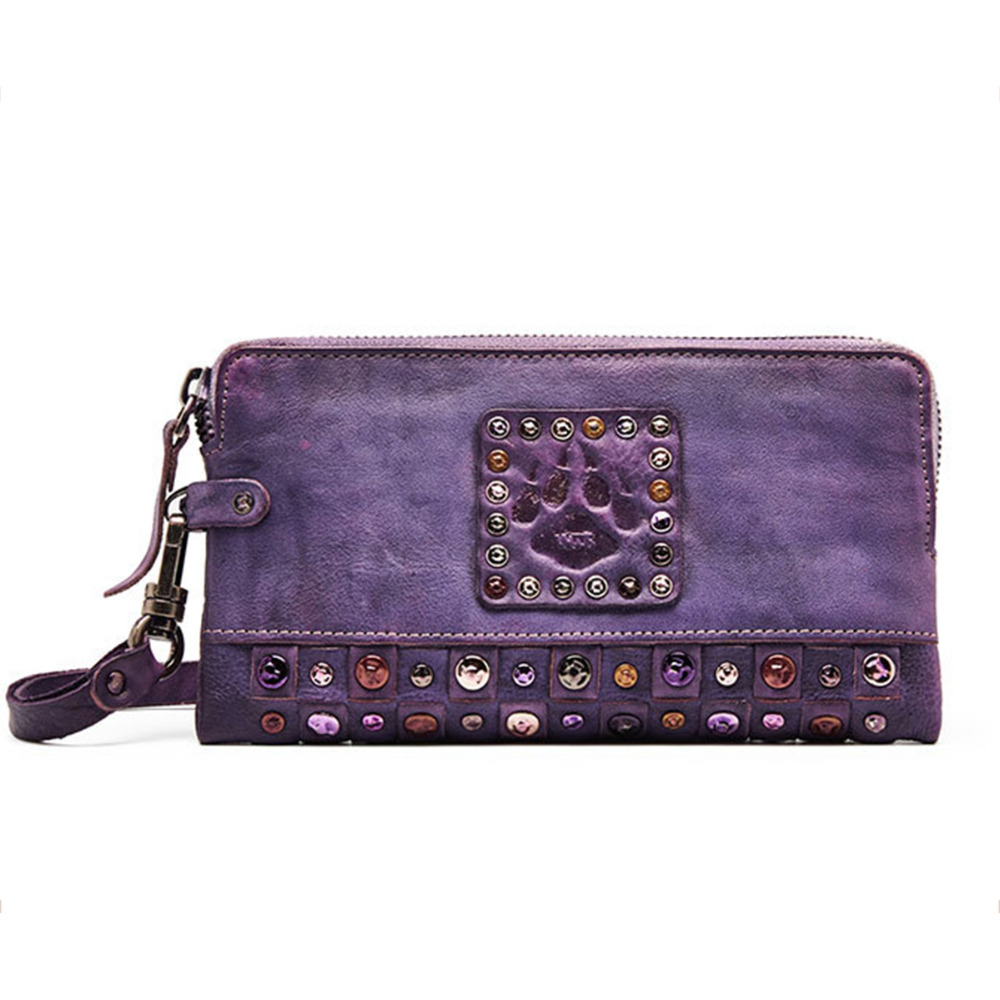 Hot Sale Women Vintage leather hand bag Wallet Split Leather Wallets Female Long Wallet Women Zipper Purse Strap Coin Purse For 2017 hot selling women punk wallet high grade fashion vintage bag wallets skull head rivet purse handbag brand long purse new