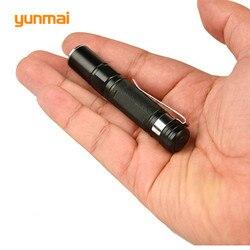 Portátil mini penlight cree q5 2000lm led lanterna tocha luz de bolso à prova dwaterproof água aaa bateria poderosa led para caça