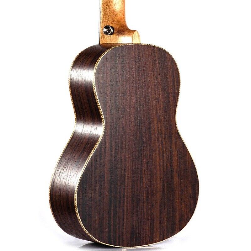 Soprano Concert ukulélé 23 pouces palissandre uku Ukelele avec 4 cordes mini Hawaii guitare Instruments de musique - 5
