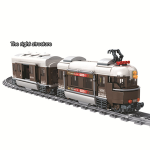Image 3 - זוכה 5090 שוויץ קלאסי רכבת עיר טכני דגם בניין בלוקים לבני ילדי DIY צעצועים לילדים חינוכיים