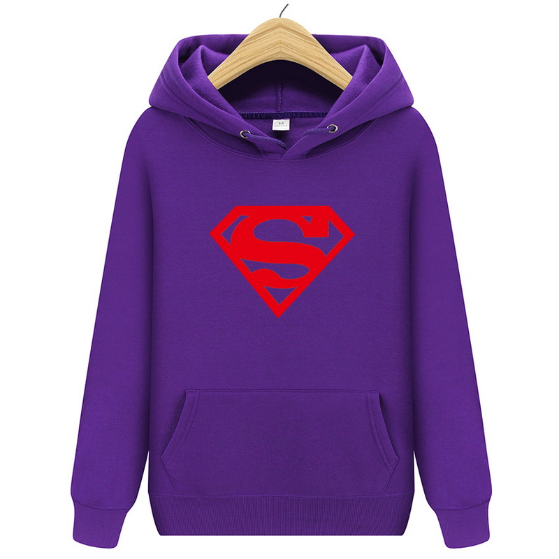2018 New Men's Fashion Hoodies Hoody Comic Super Hero pullover Hoody Superman Batman Captain America the Flash Cartoon Movie