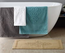 LYN&GY 100% Cotton Hotel Flool Towel Mat Bathroom Towels Absorbent Non-slip Carpets Step Foot Pad Kitchen Rugs 50*80