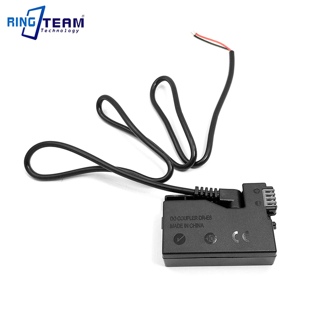 LP E8 Batterie Coupleur CC DR E8 DRE8 + ACK E8 Câble Adaptateur pour Appareil Photo Canon T2i T3i T4i T5i 550D 600D 650D 700D Baiser X4 X5 X6