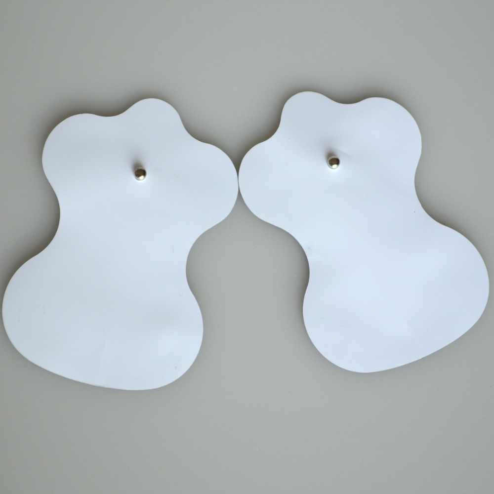 Wholesale 200Pairs/Pack XFT TENS Replacement Silicone Adhesive Pads Electrode Massager Machine Patches EMS Therapy Pads hot sale free shipping 50pairs pack nonwoven replacement silcone adhesive tens massager patches physiotherapy electrode pads