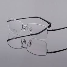 Computer Goggles Eyeglassses Frames Men Prescription Eyewear Glasses Titanium Business Half Rim Optical Myopia Reading