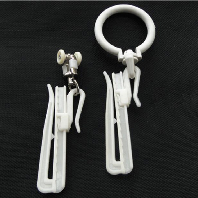 Online Shop White adjustable height plastic curtain hooks 7cm lift ...