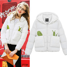 Short female ladies winter padded jacket 2016 new clothing hooded cotton group thickened coat