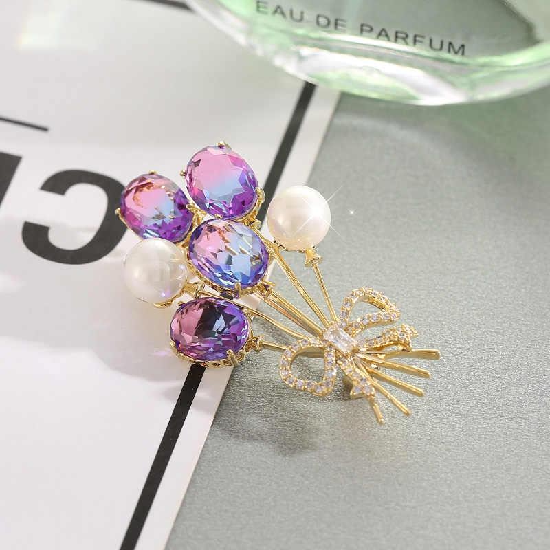 高級女性のファッション工場ブローチピン花葉タンポポちょうブローチジュエリー錦織りファムビジュー · ド · リュクス