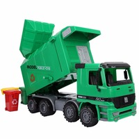 Kids Toy Car Large Sized 1:22 Diecasts Dump Garbage Trucks Model Inertial Engineering Vehicle Cleaning Car Toys Boys Girls Gifts